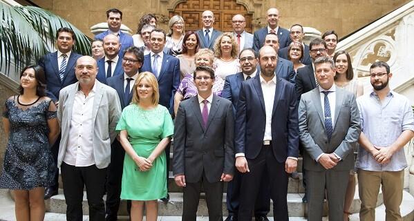Nueva corporación provincial en el Palau de la Batlia. (Foto-Abulaila)