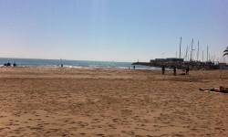 Playa norte de la Pobla de Farnals.