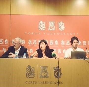 Podemos presentó en Valencia la Proposición de Ley de Cuentas Abiertas (Fotografía de Twitter)