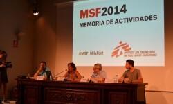 Presentación de la Memoria de Actividades 2014 de Médicos Sin Fronteras.