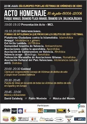 Programa de los actos que acompañan el evento.