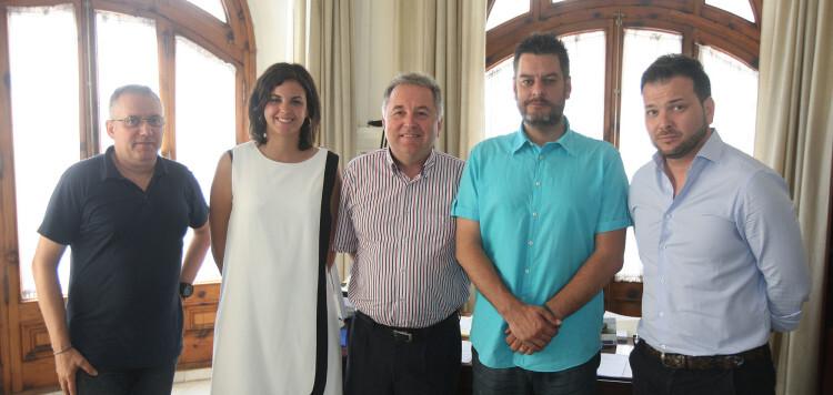 Ramón Guijarro, Sandra Gómez, Juanjo Carbonell, Carlos Galiana y Manuel Sánchez