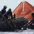 Rescate de un viajero del ferry.