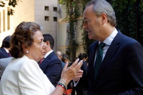 Rita Barberá y Alberto Fabra en una imagen de archivo.