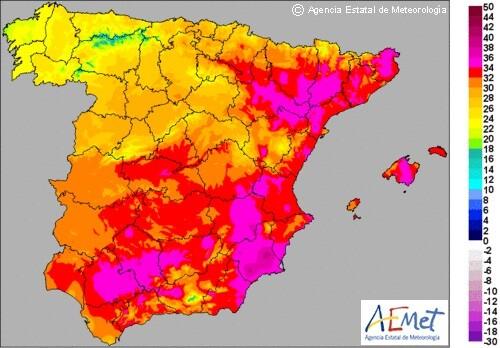 Siguen las altas temperaturas en España.