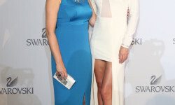 WATTENS, AUSTRIA - JULY 02: Nathalie Colin, Swarovski Creative Director & EVP, Miranda Kerr during the Swarovski new collection launch event on July 2, 2015 in Wattens, Austria. (Photo by Gisela Schober/Getty Images for Swarovski)