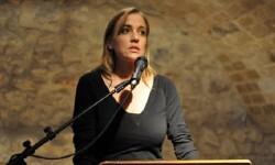 Tania Sánchez durante una rueda de prensa en marza de 2015.