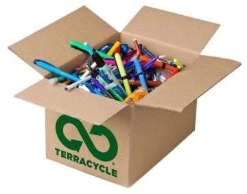 Todos los materiales de escritura podrán ser reciclado, convirtiéndoles en objetos como estuches papeleras o regaderas (TerraCycle)