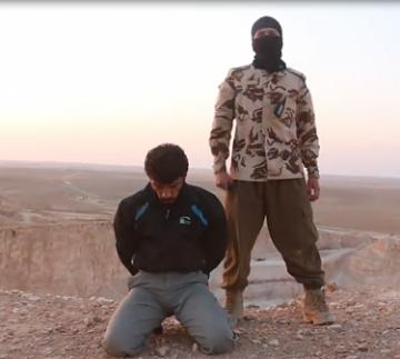 Un soldado sirio y su verdugo, un yihadista del Estado islámico