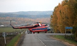 Zona militar en Siberia (Rusia).