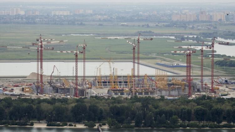 El Estadio de Rostov del Don se está construyendo en la ciudad de Rostov del Don
