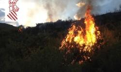 Incendio forestal de Segorbe.