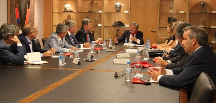 El ministro de Educación, Cultura y Deporte, Iñigo Méndez de Vigo, en una reciente reunión con los presidentes de las Federaciones Deportivas en la sede del Consejo Superior de Deportes.