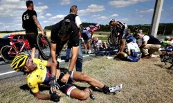 impactante caída en la tercera etapa del Tour de France