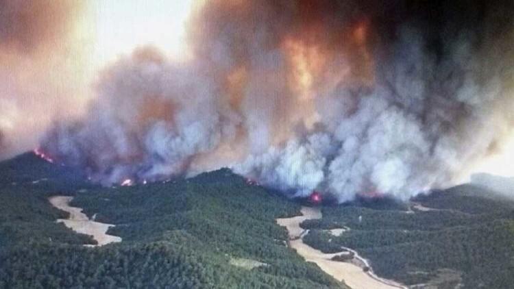 incendio en las Cinco Villas