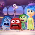 Pictured (L-R): Sadness, Fear, Anger, Disgust, Joy. ©2015 Disney•Pixar. All Rights Reserved.
