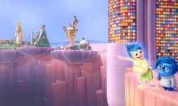 "Joy (voice of Amy Poehler) and Sadness (voice of Phyllis Smith) must venture through Long Term Memory to find their way back to Headquarters in Disney•Pixar's ""Inside Out"" — in theaters June 19, 2015. ©2015 Disney•Pixar. All Rights Reserved."