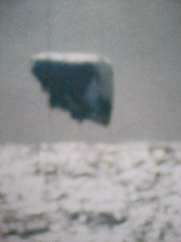 OVNI con forma triangular