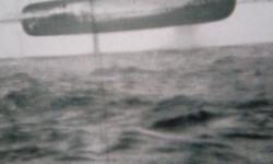 Otro OVNI (o tal vez el mismo) avistado por los tripulantes del submarino. Muy probablemente tenga cientos de metros de longitud.