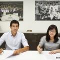 03.07.2015, Renovacion Dani Parejo, Oficinas del Valencia CF. Valencia.