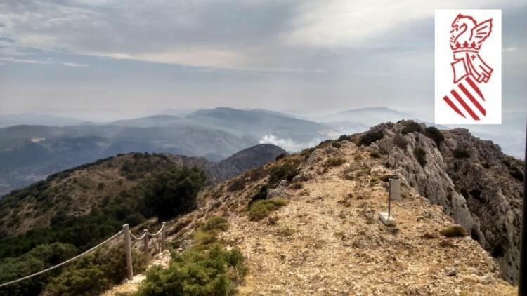 Vista del incendio desde observatorio de Serrella.