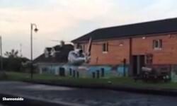 Video: un hombre estrelló su helicóptero contra un pub irlandés
