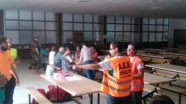 Vecinos de Acebo en las instalaciones del CEFOT 1 (Foto:CEFOT 1)