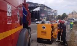 CPBC tiene desplegado en recinto #ArenalSound2015 un amplio dispositivo de achique con electrobombas de gran cauda