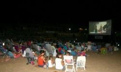 Cine en las playas valencianas.