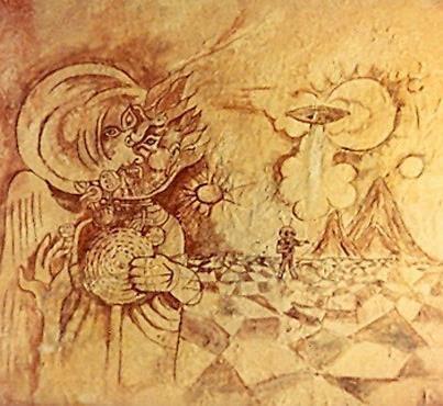 El Hombre de Marte de Fergana (pintura rupestre) (1)