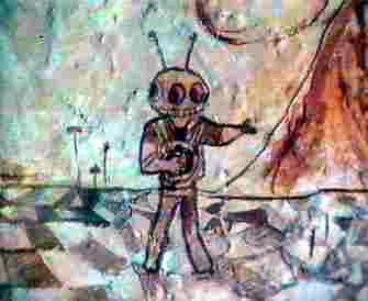 El Hombre de Marte de Fergana (pintura rupestre) (2)