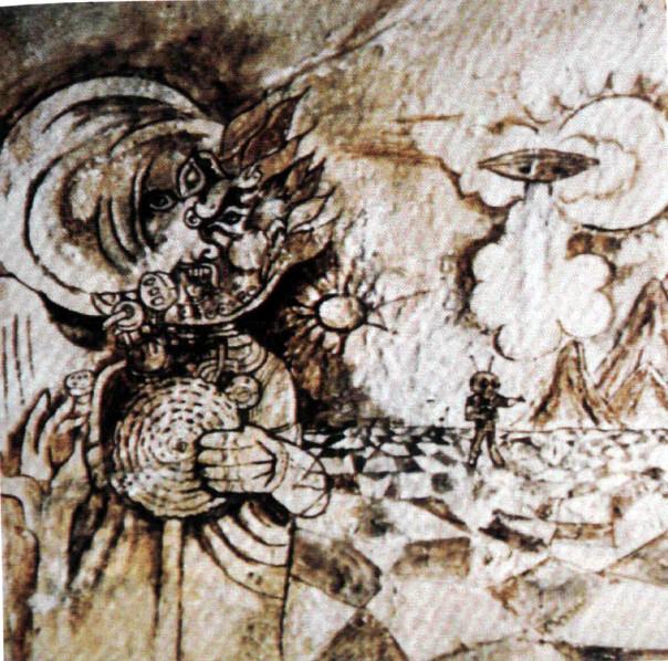 El Hombre de Marte de Fergana (pintura rupestre) (4)