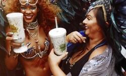 El carnaval de Rihanna con su cuerpo semidesnudo (11)