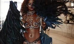 El carnaval de Rihanna con su cuerpo semidesnudo (12)