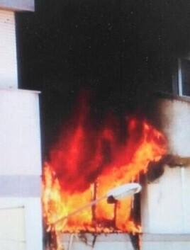 El fuego, cuyas causas aún no trascendió, no afectó a ninguno de los habitantes.