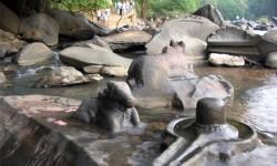 El tiempo seco revela río increíble con miles de Shiva Lingas Dry-Weather-Reveals-Amazing-River-With-Thousands-of-Shiva-Lingas (10)