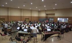 Ensayo de la Joven Banda Sinfónica de la Federación de Sociedades Musicales de Comunidad Valenciana.
