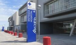 Entrada principal del nuevo hospital Francesc de Borja de Gandia.
