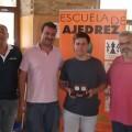 Entrega de premios del campeón del torneo, Javier Nieves Cabanes.