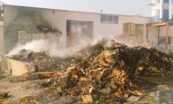 Incendio de una nave industrial esta noche Belgida (3)