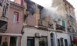 Incendio en la calle Rosario 22 de Valencia.