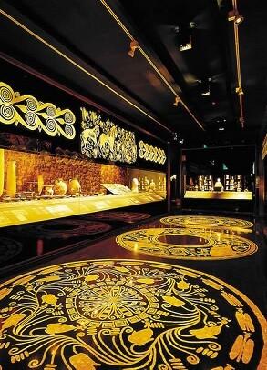 Interior del museo arqueológico.