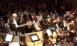 Joven Banda Sinfónica de la Federación de Sociedades Musicales de Comunidad Valenciana en uno de sus conciertos en el Palau de la Música.