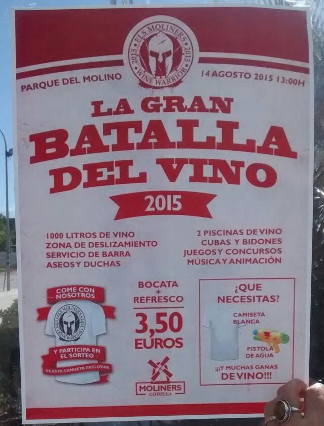 La Batalla del vino en el municipio de Godella Valencia