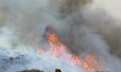 Las llamas avanzan en Sierra de Gata.