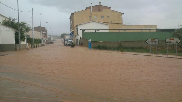 Las localidades afectadas por las fuertes lluvias reciben el apoyo de la Diputación