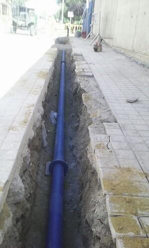 Los trabajos de ampliación de la Red de Distribución de Agua Potable consisten en una instalación de 82 metros de tubería.