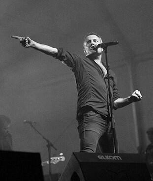 M-Clan en un concierto de 2014 en Castellón.