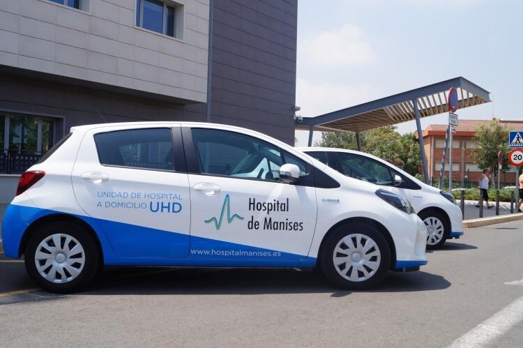 Manises sustituye la flota diésel de su Unidad de Hospital a Domicilio por coches híbridos