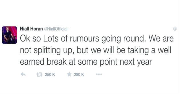 One Direction la separación no será permanente